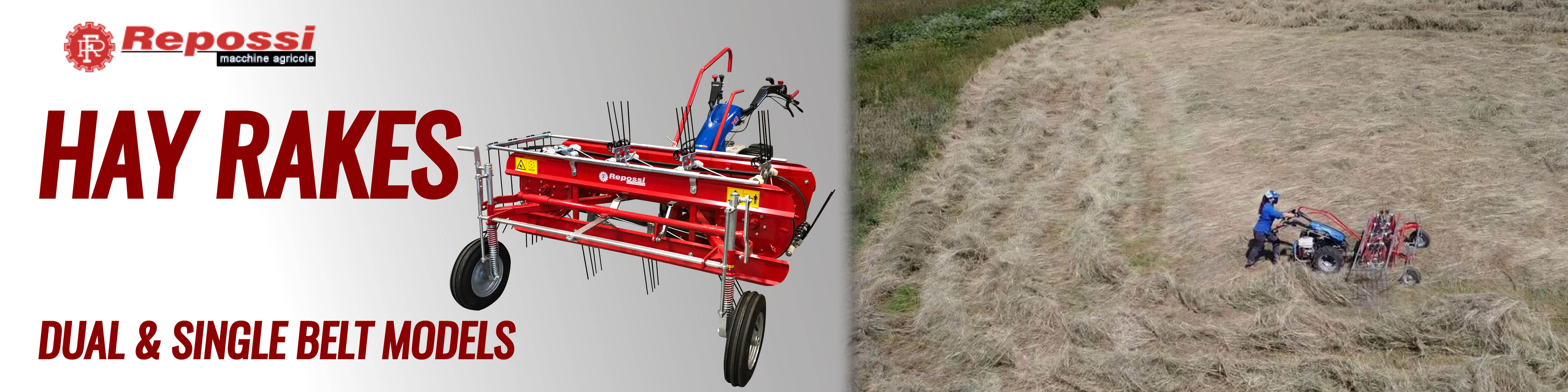 Now Offering Hay Rakes from Repossi