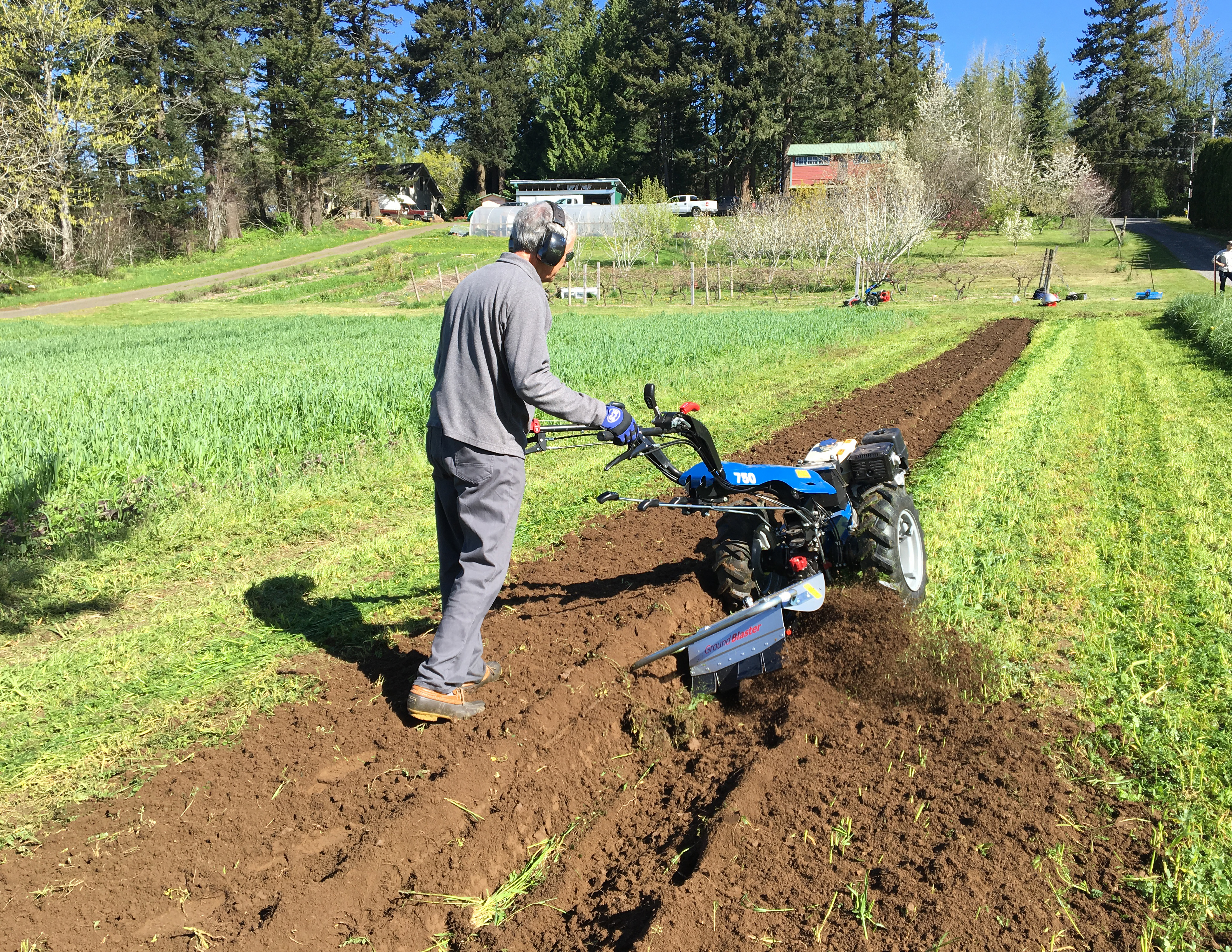 Creating raised beds and walkways with the BCS Rotary Plow.