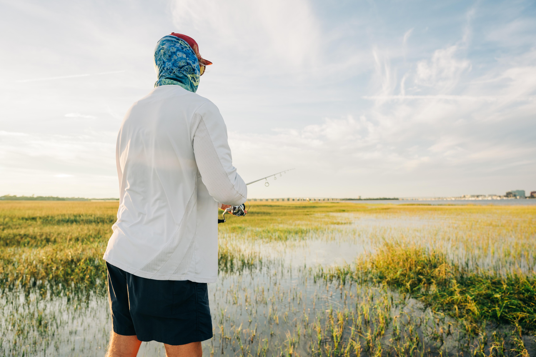 man saltwater fly fishing