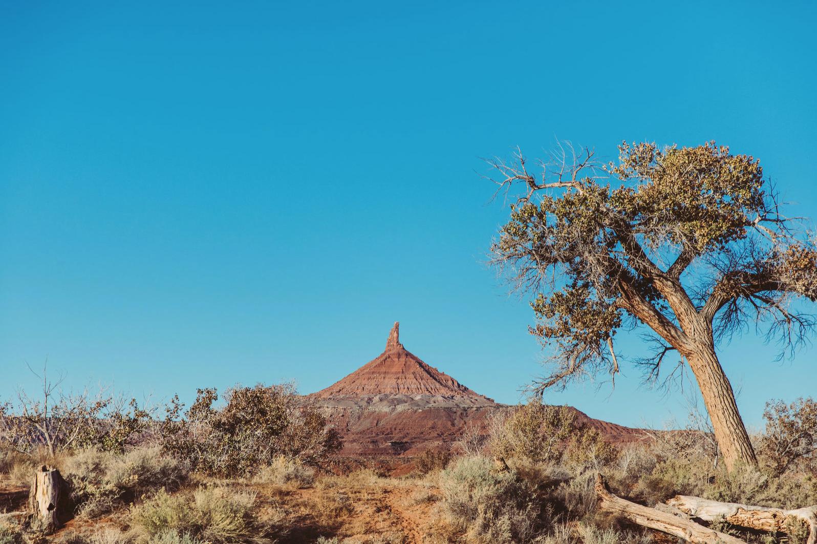 mountain in desert
