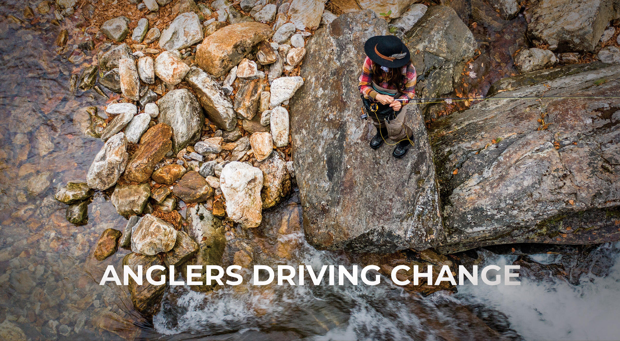 ambient video with clips from the anglers driving change video series