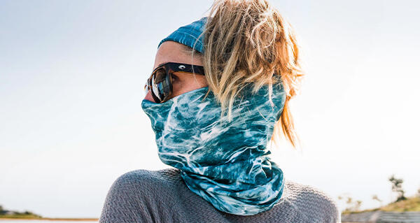 Buff Sadri Black Coolnet Face Covering Headwear Neck Tube Face Mask
