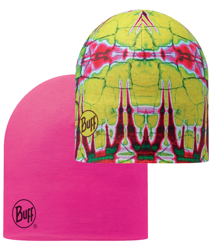 Microfiber Reversible Hat Statics Lime-Magenta