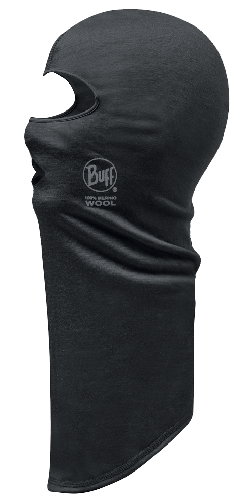 Lightweight Merino Wool Balaclava - Black