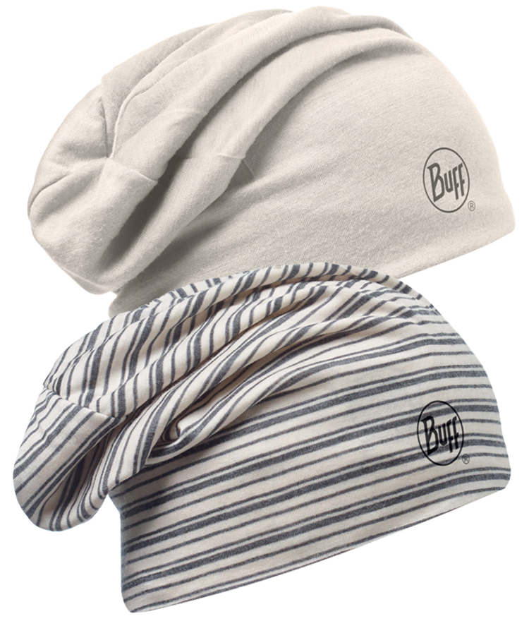 Merino Wool Reversible Hat Ecru Snow