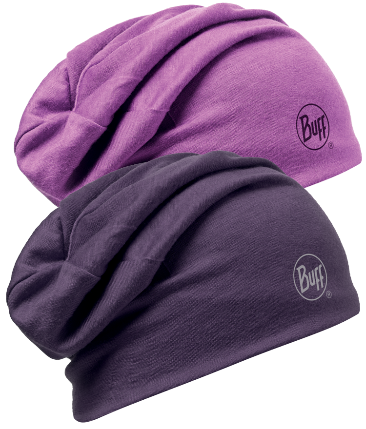 Merino Wool Reversible Hat Plum