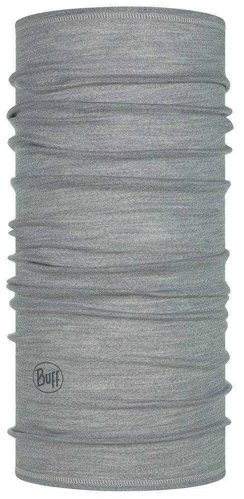 Buff Lightweight Merino Wool Multifunktionstuch Solid Castlerock grau