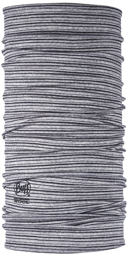 Lightweight Merino Wool Light Grey Stripes