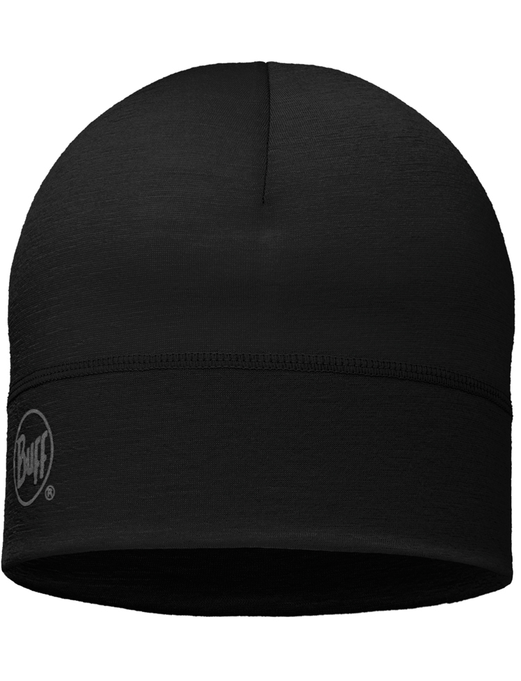 Lightweight Merino Wool Hat Black 2