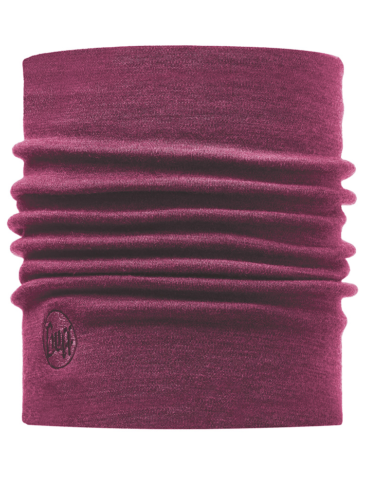 Heavyweight Merino Wool Neckwarmer Purple Raspberry
