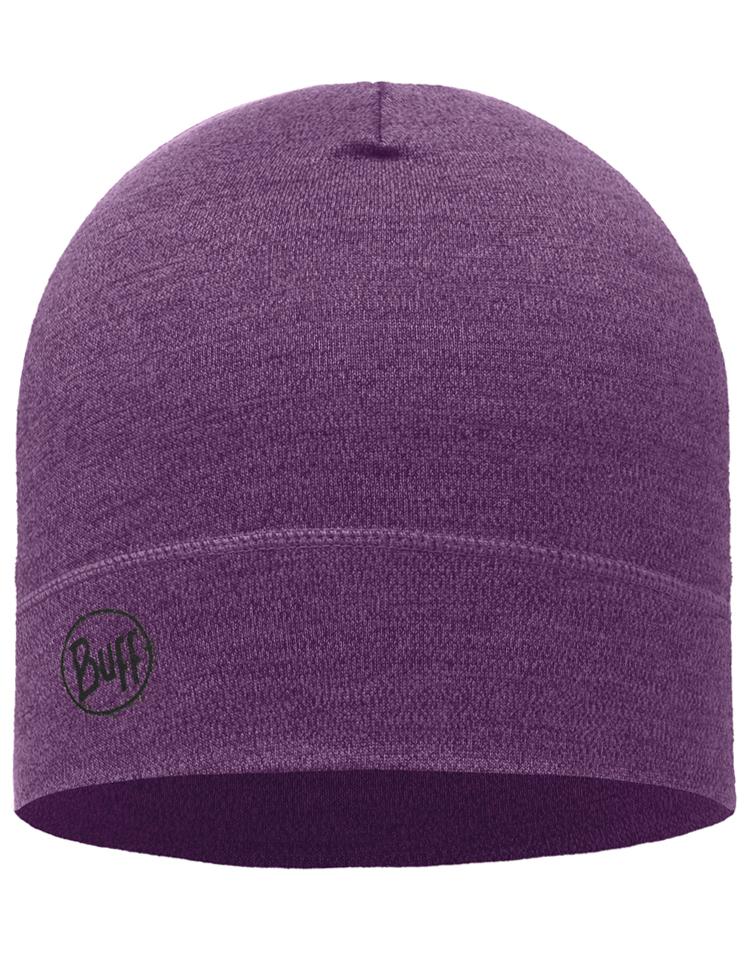 9edbd186 Midweight Merino Wool Hat Purple Melange | Official Site