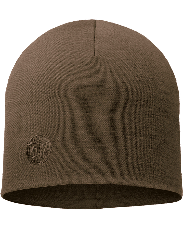 Heavyweight Merino Wool Hat Walnut Brown