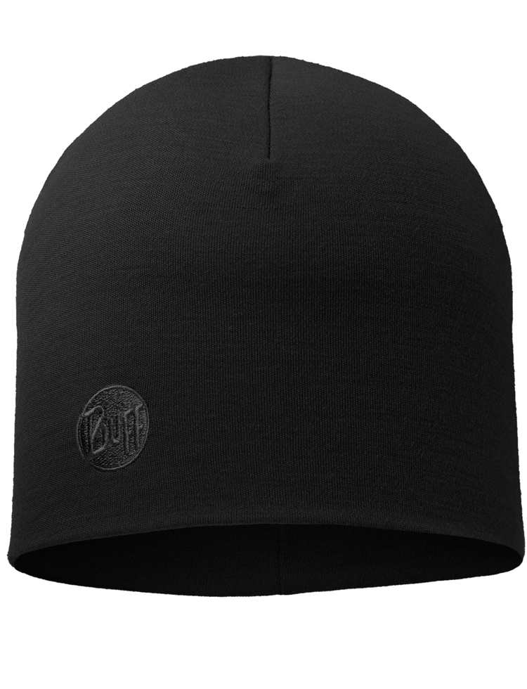 Heavyweight Merino Wool Hat - Black