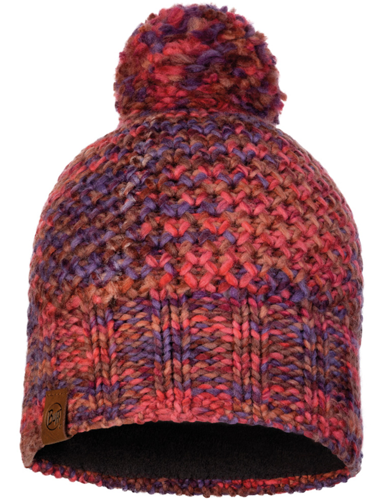 Knitted & Fleece Hat - Margo Maroon