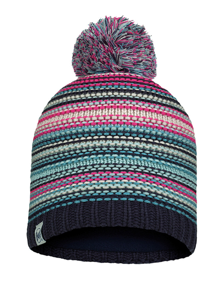 Junior Knitted & Fleece Hat - Amity Night Blue