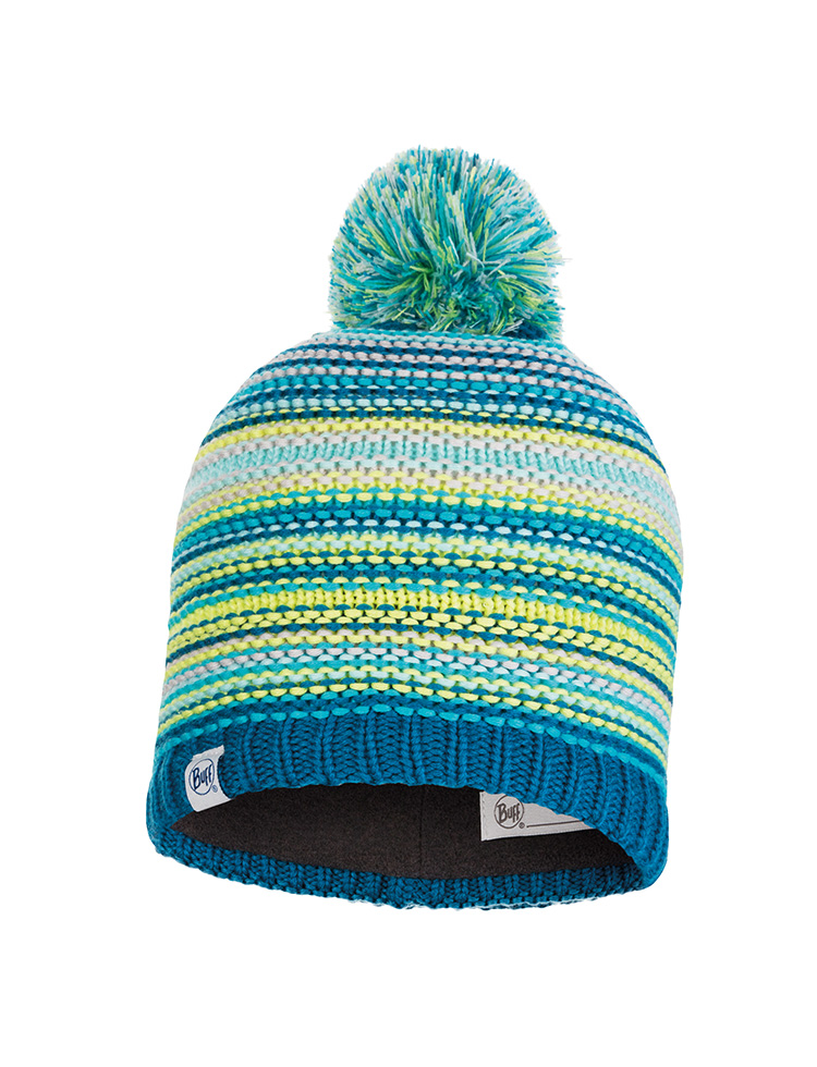 Junior Knitted & Fleece Hat - Amity Turquoise