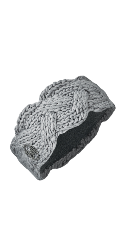 Knit Headband Nyssa Light Grey