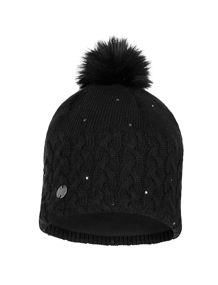 Knitted & Polar Hat Ellie Black