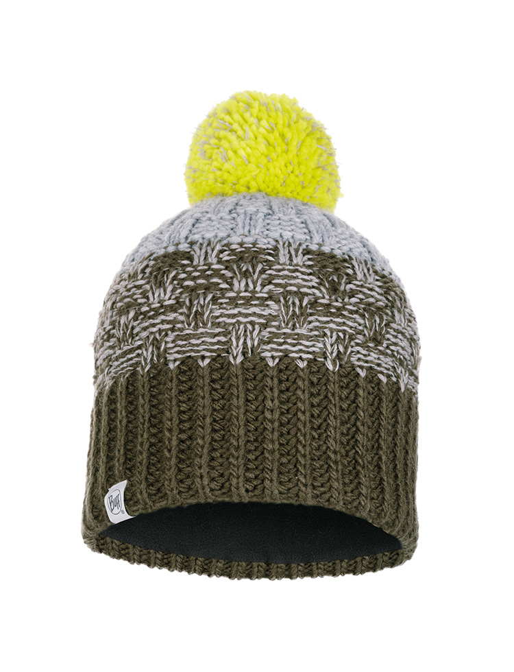 Junior Knitted & Polar Hat Tait Forest