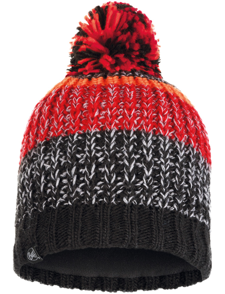 Knitted & Fleece Hat - Stig Black