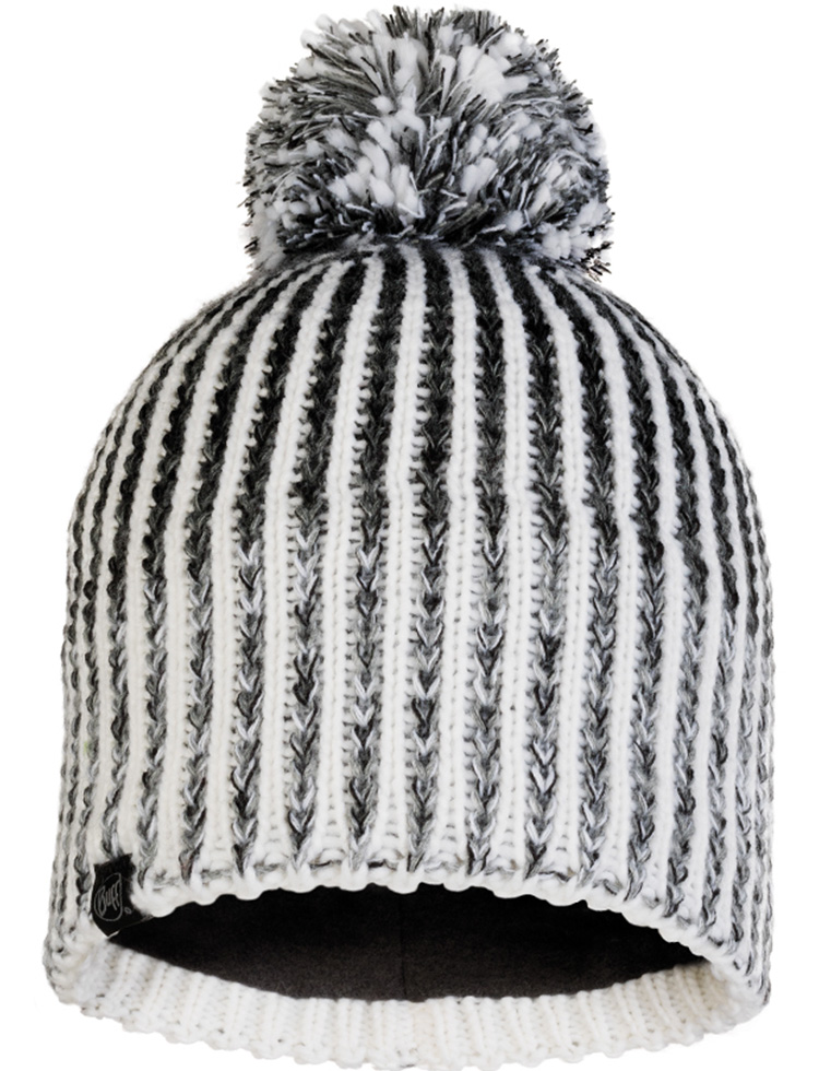 Knitted & Fleece Hat - Iver Grey