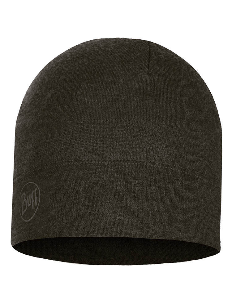 Midweight Merino Wool Hat Forest Night Melange