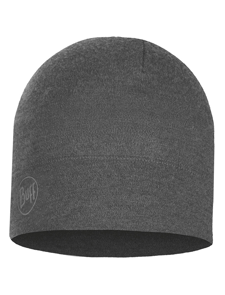 Midweight Merino Wool Hat - Light Grey Melange
