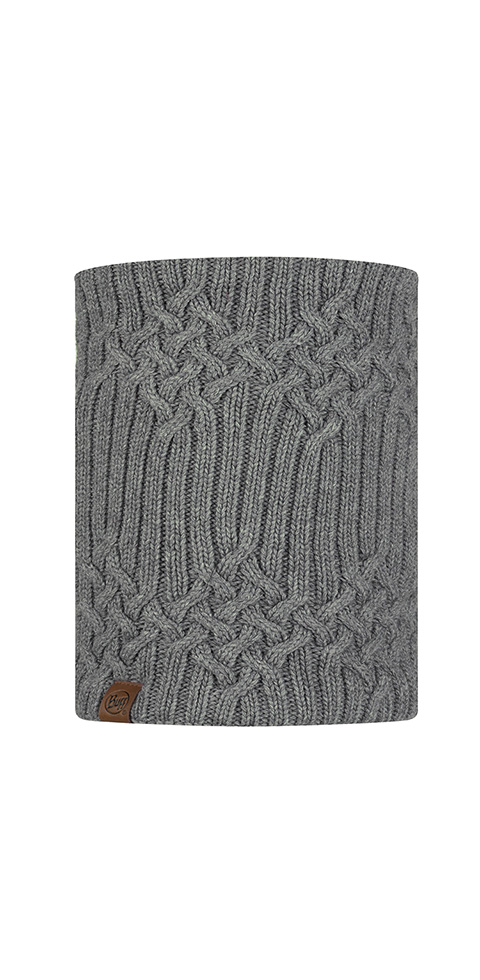 Knitted & Fleece Neckwarmer - Helle Castlerock Grey