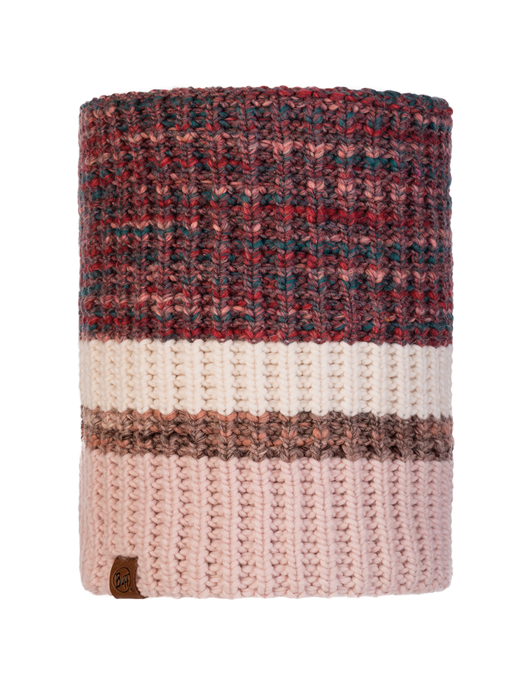 Knitted & Fleece Neckwarmer - Alina Blossom Red