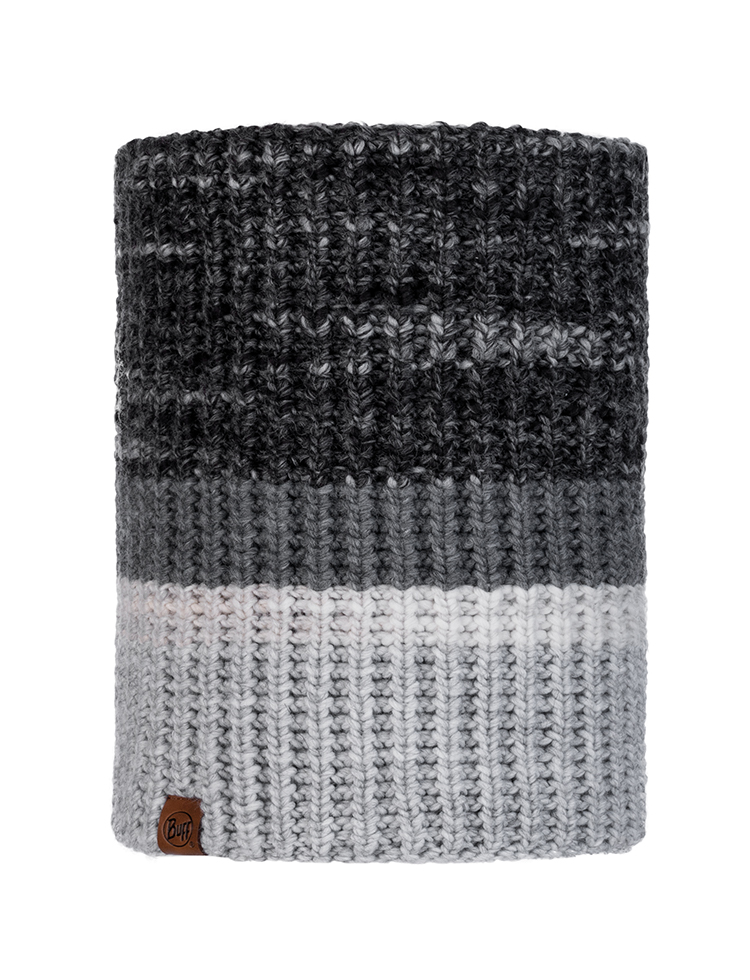 Knitted & Fleece Neckwarmer - Alina Grey