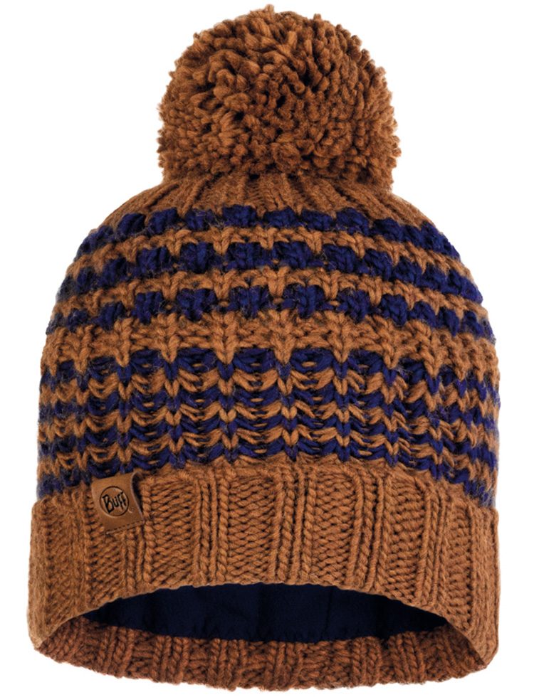 Knitted & Fleece Hat - Kostik Camel