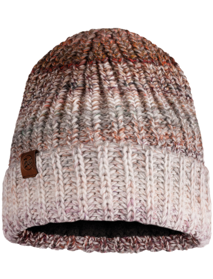 Knitted & Fleece Hat - Olya Grey