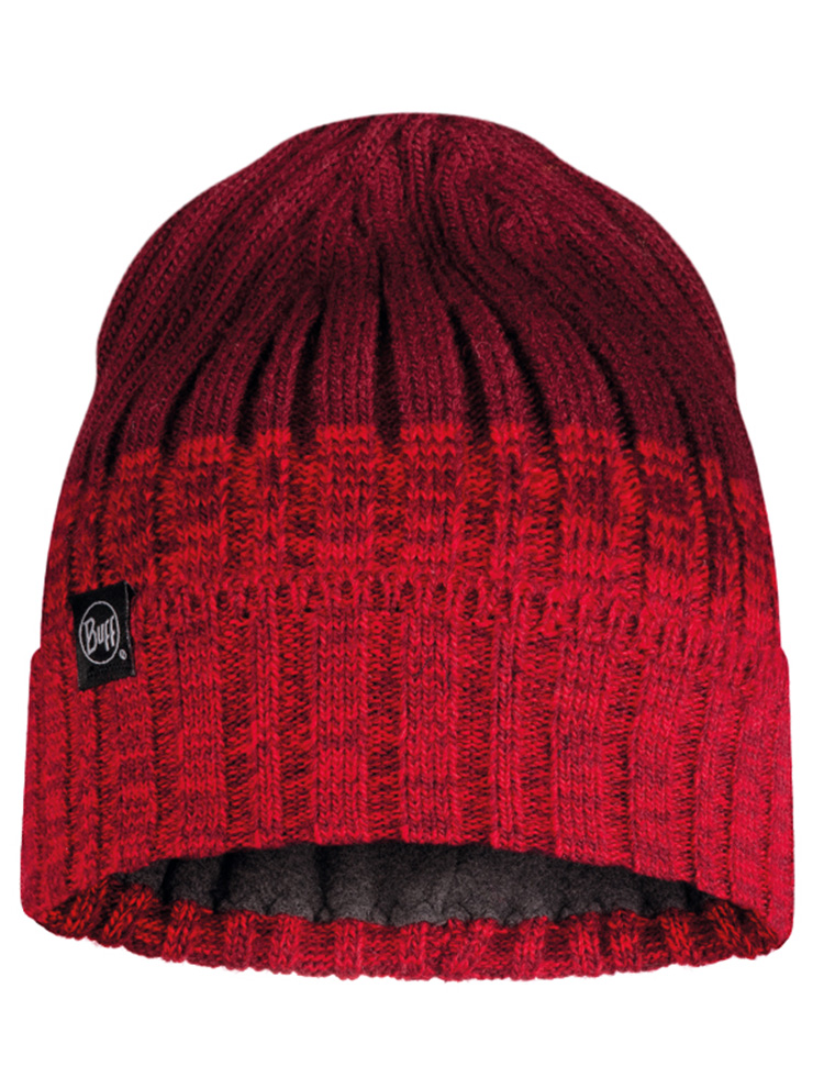 Knitted & Fleece Hat - Igor Maroon