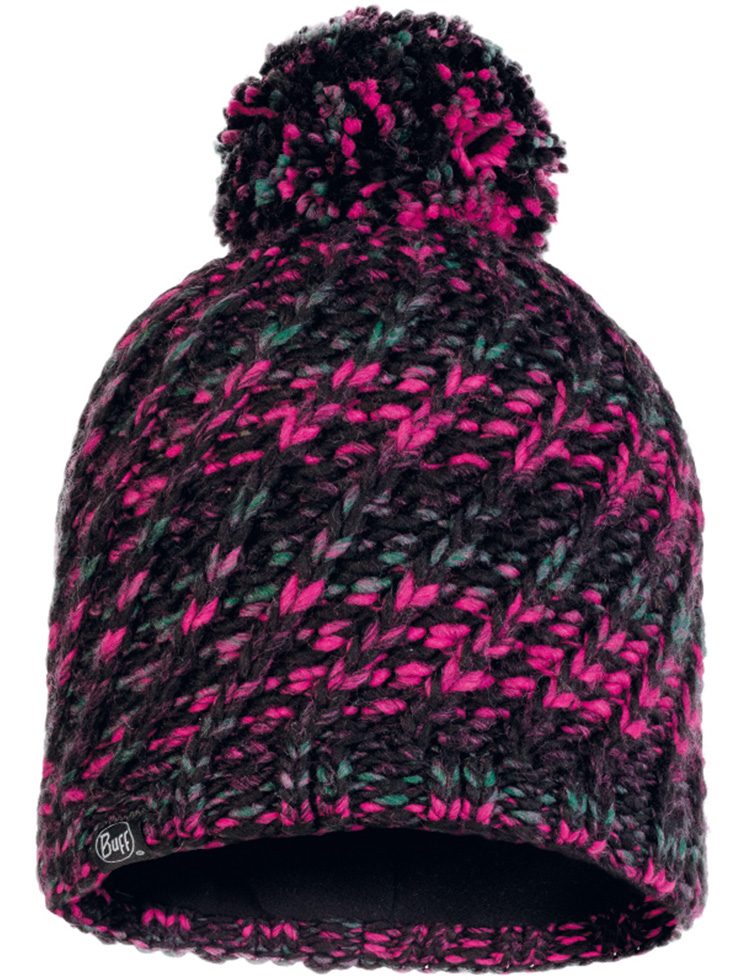 Knitted & Fleece Hat - Valya Black