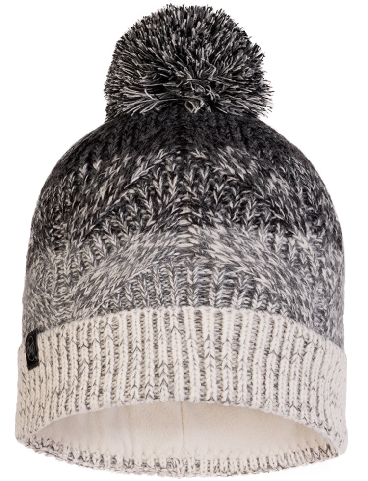 Knitted & Fleece Hat - Masha Grey