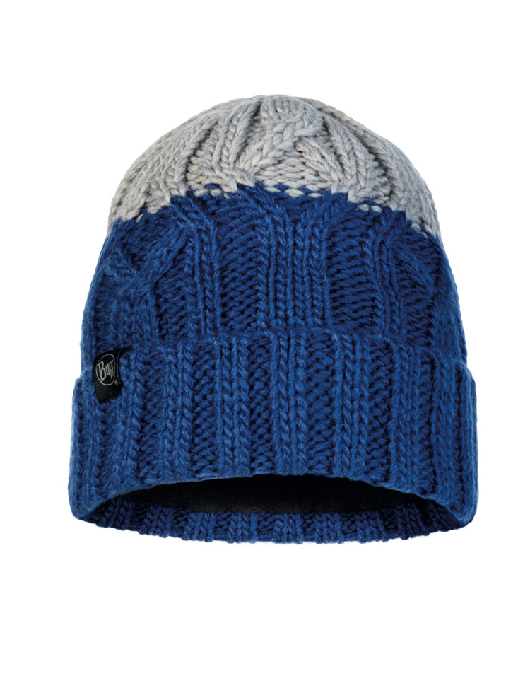 Junior Knitted & Fleece Hat - Ganbat Blue