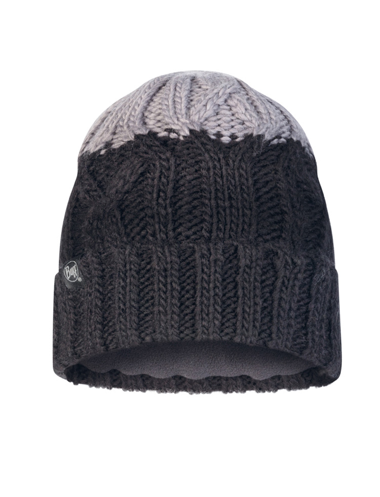 Junior Knitted & Fleece Hat - Ganbat Black