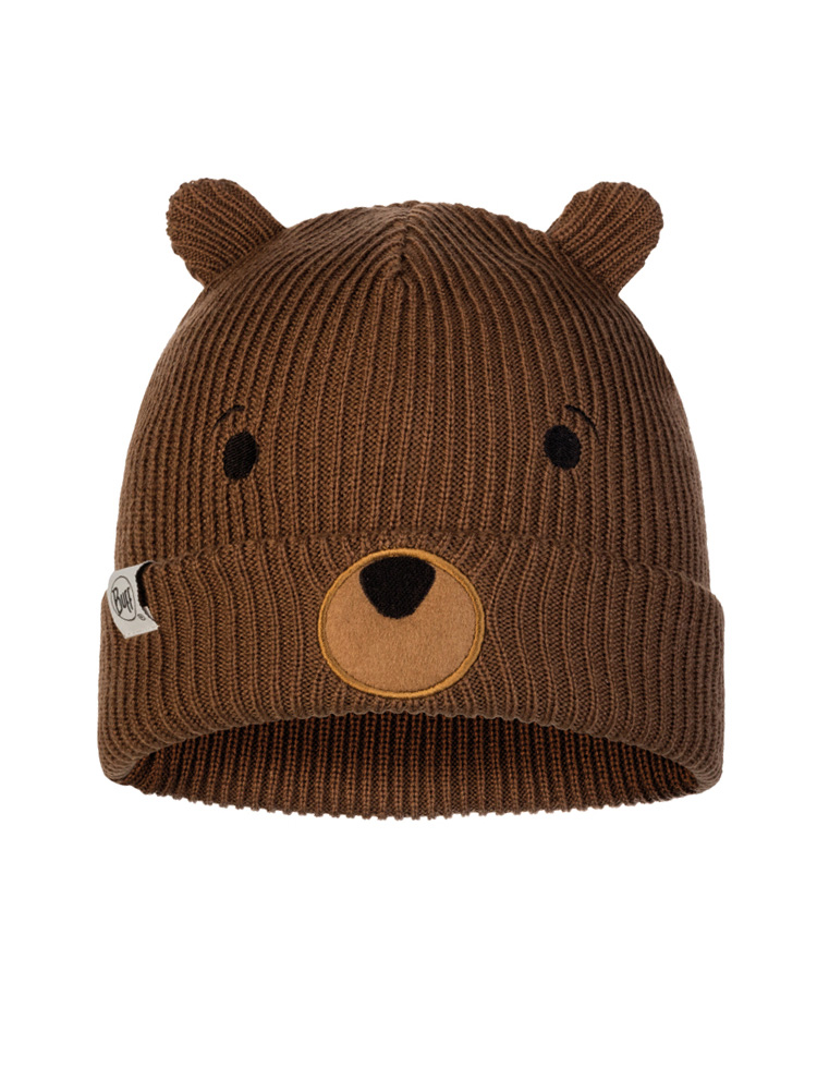 Child Knitted & Fleece Hat - Fun Bear