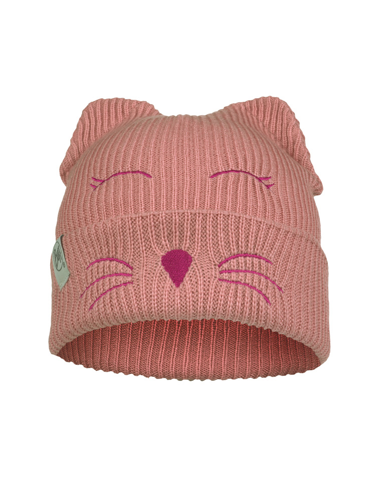 Child Knitted & Fleece Hat - Fun Cat