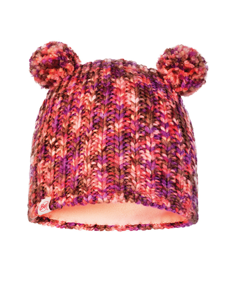 Child Knitted & Fleece Hat - Lera Pink