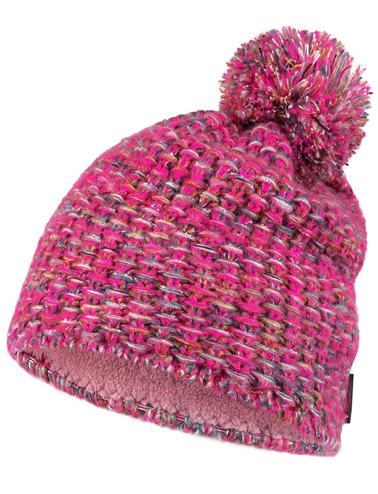 Knitted & Fleece Hat - Grete Pink