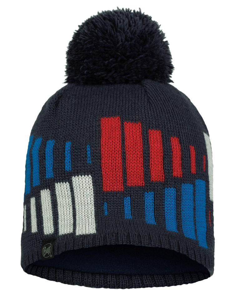 Knitted & Fleece Hat - Mitch Night Blue