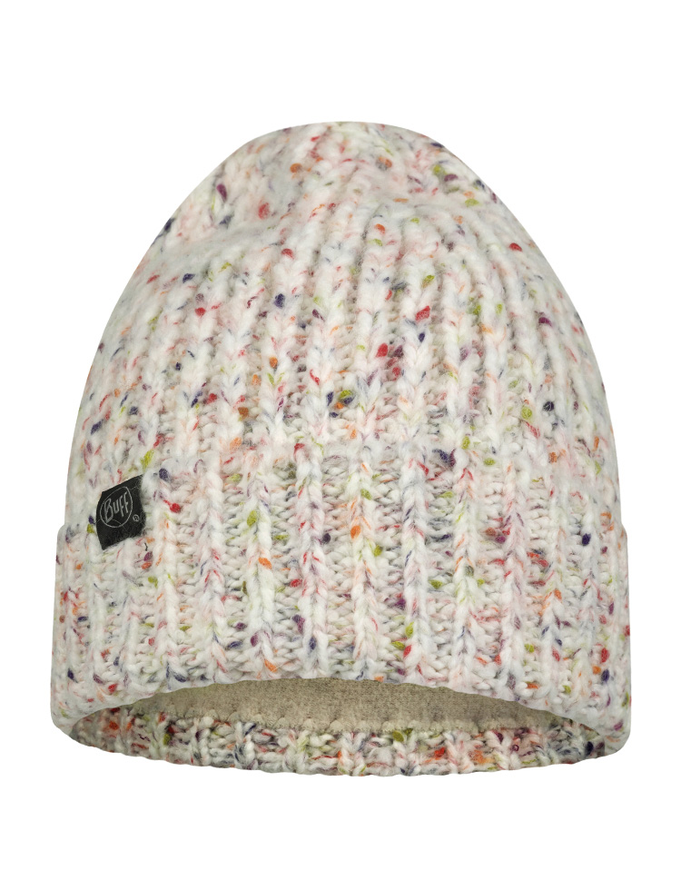 Knitted & Fleece Hat - Kim  White