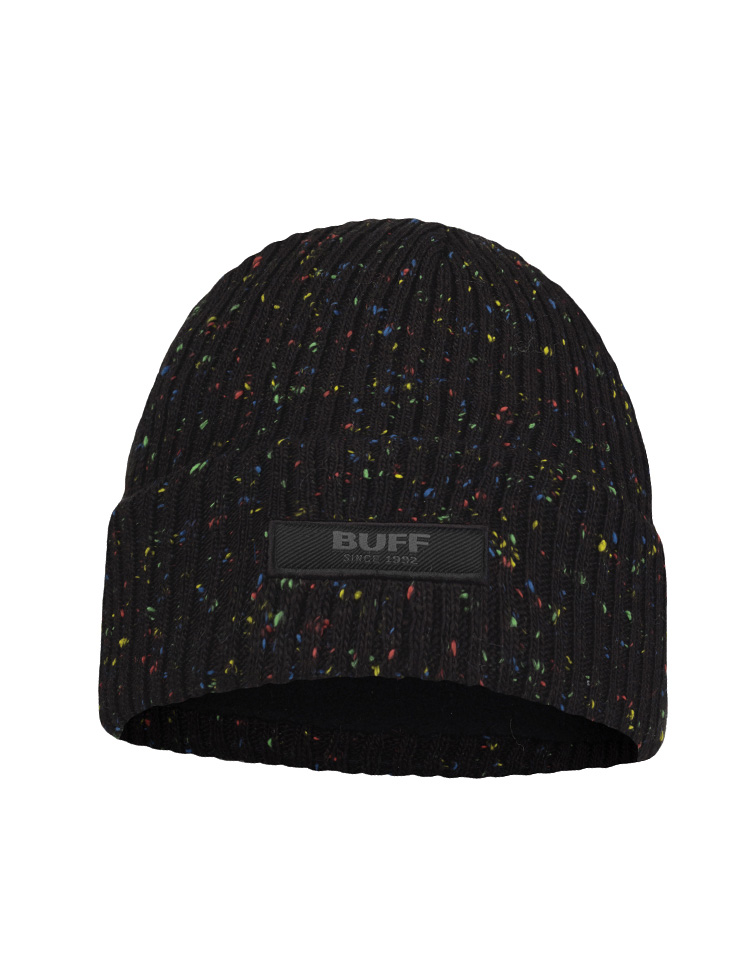 Junior Knitted & Fleece Hat - Jorg Black