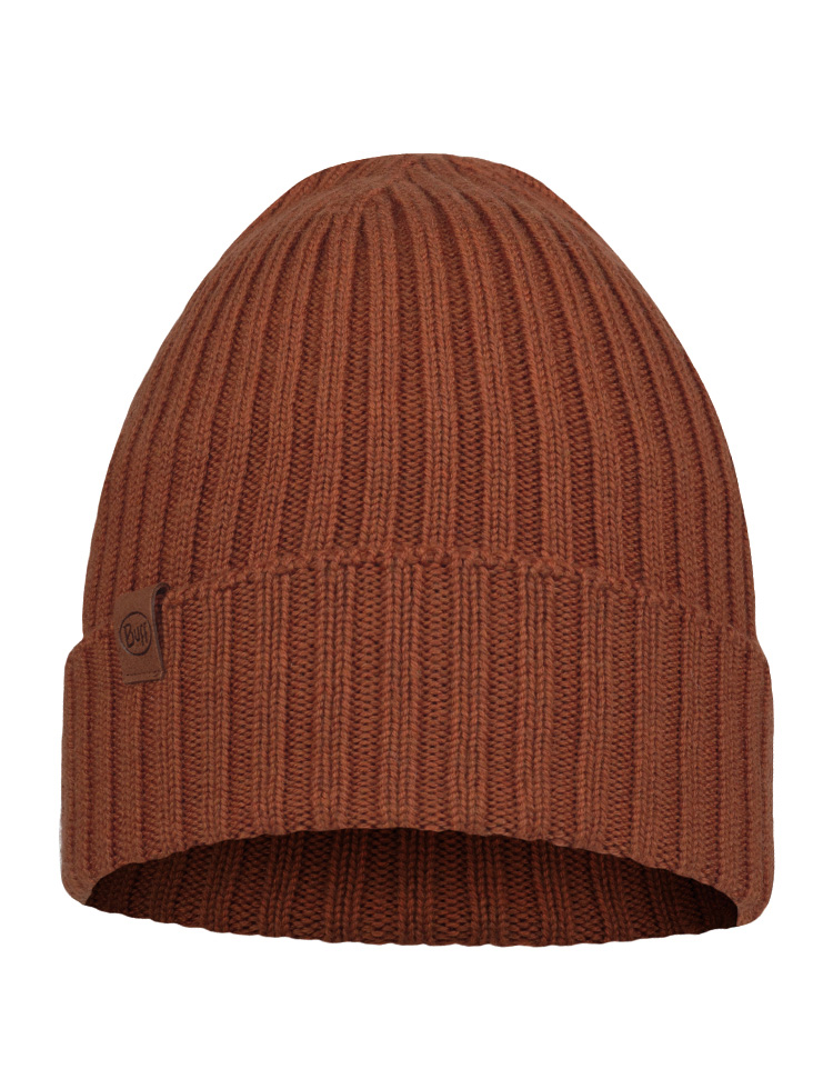 Merino Wool Knitted Hat - Norval Rusty