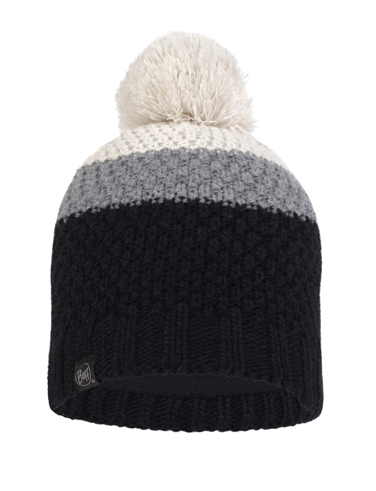 Junior Knitted & Fleece Hat - Noel Black