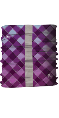 Dog Reflective Buff - Crosscut Purple Reflective