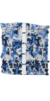 Dog Reflective Buff - Reflective Cat Camo Blue