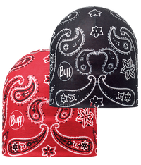 Microfiber Reversible Hat - Cashemere Red-Black