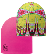 Microfiber Reversible Hat - Statics Lime-Magenta